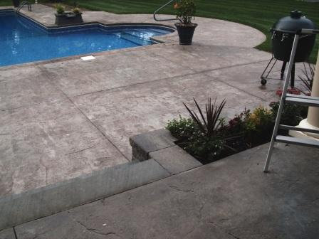 Stamped Concrete Pool Patios in Newton, NJ
