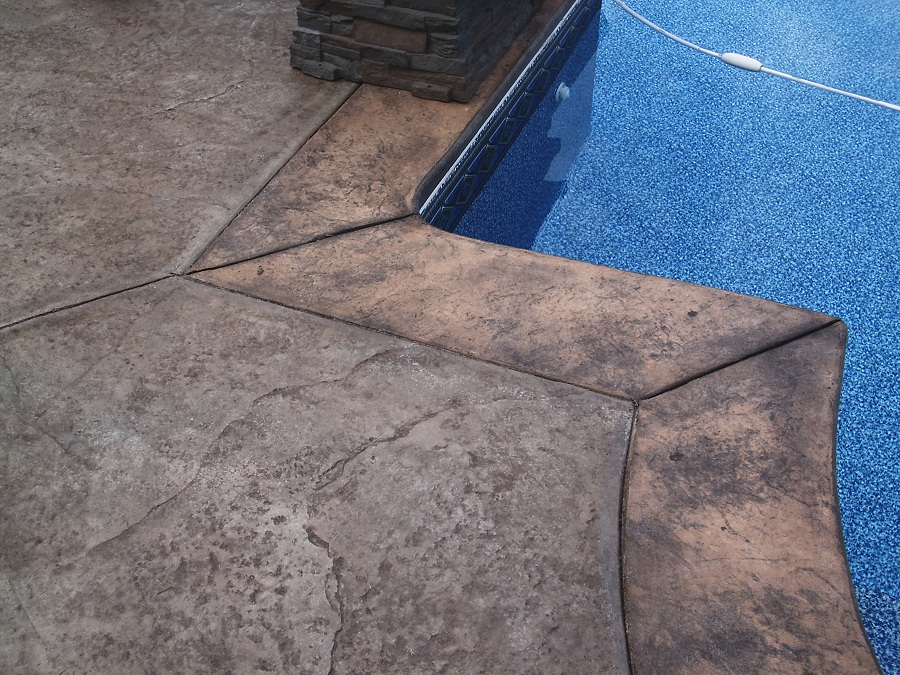 two tone stamped concrete