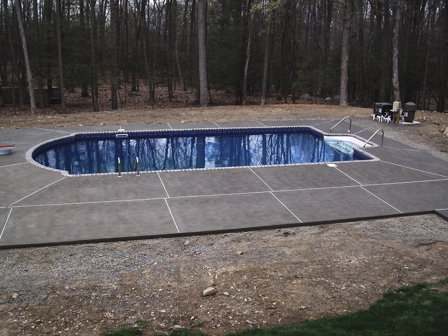 new concrete pool surround