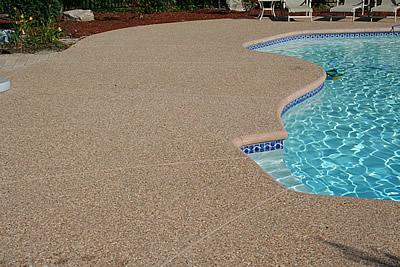 exposed aggregate pool patio