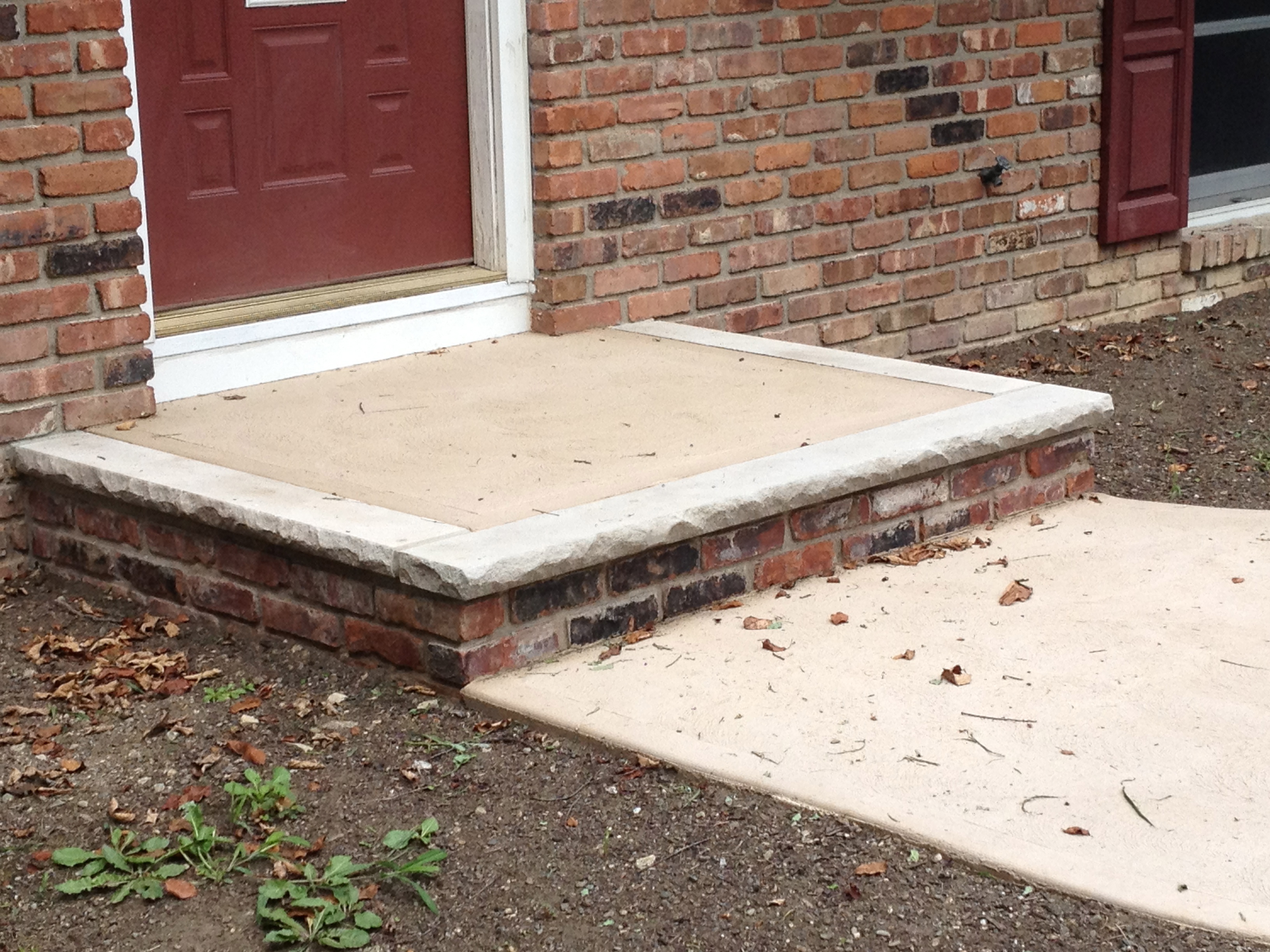 cement steps in Wantage Township