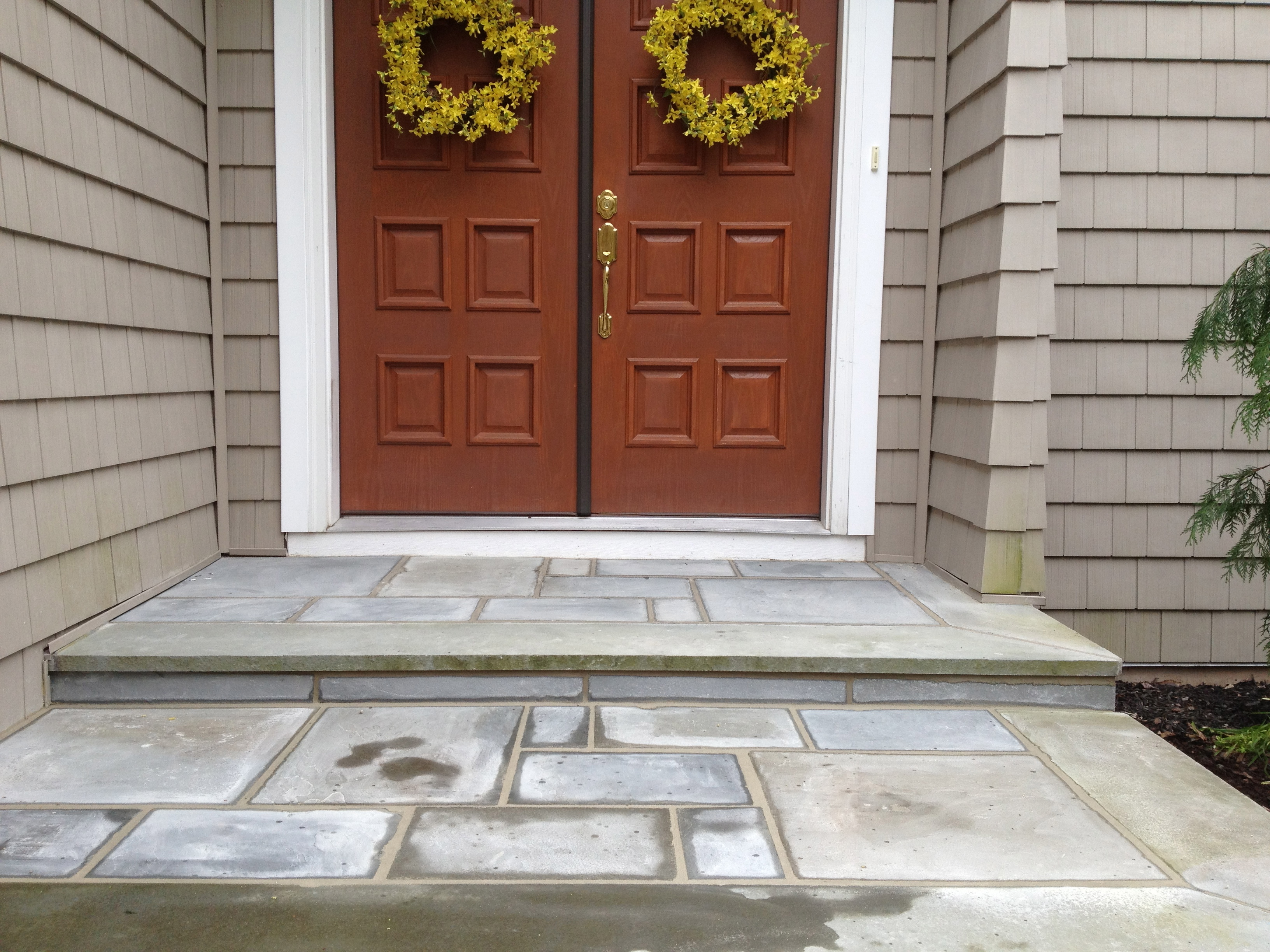 Bluestone step repair