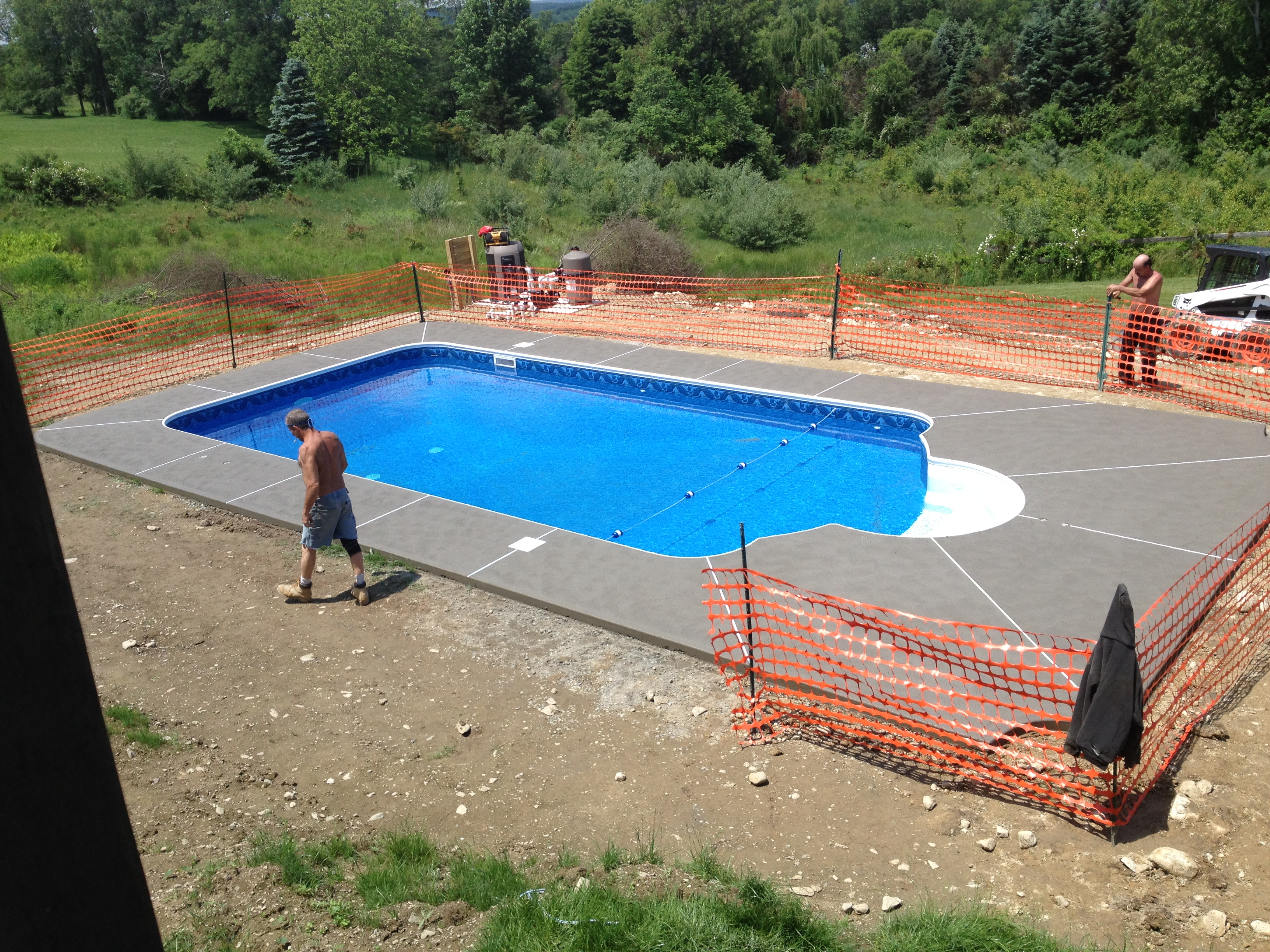 pool patios by J. W. Construction Company LLC