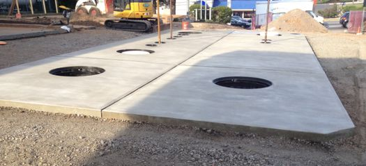 Tank mat concrete foundations