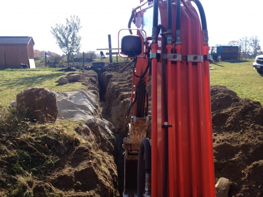 trenching for water lines in New Jersey