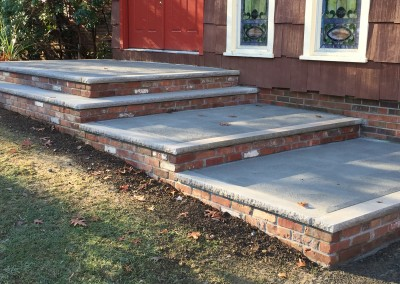 Masonry brick steps for homes in Wantage & Vernon