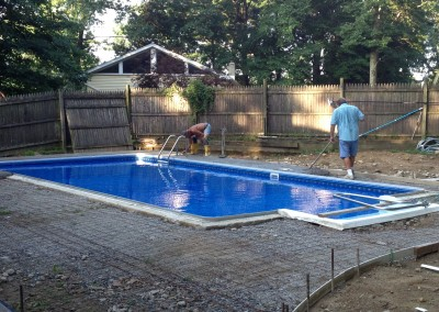 Replacement of pool decking