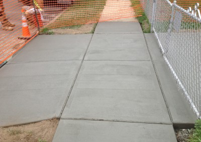 sidewalk replacement made of concrete