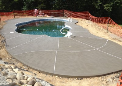 Concrete pool surround
