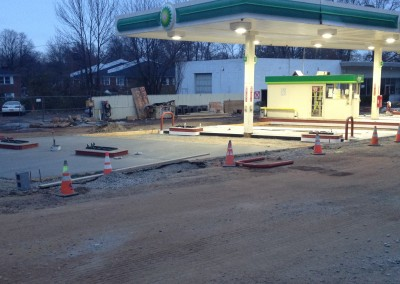 Commercial service station concrete pads