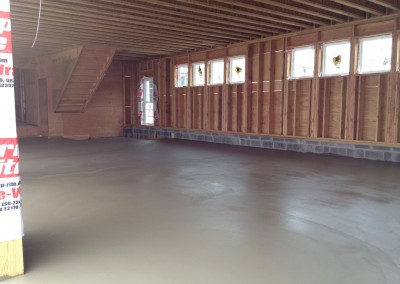 concrete garage Flooring & moisture mitigation
