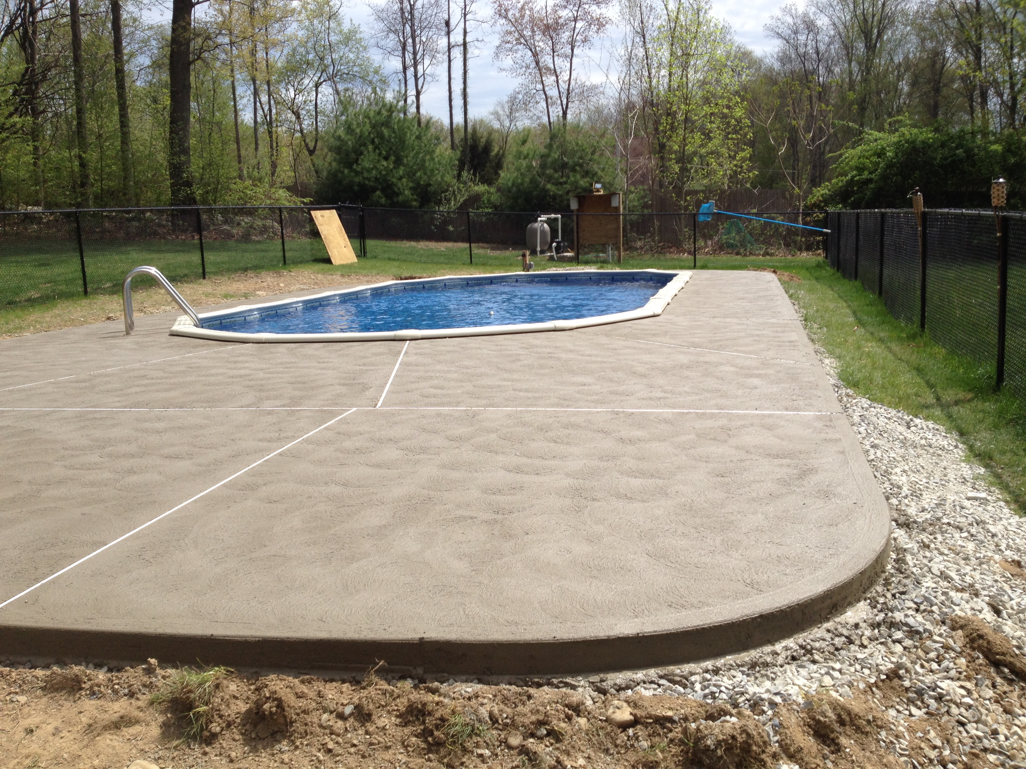 Gallery of brick concrete work by j w construction - Commercial above ground swimming pools ...