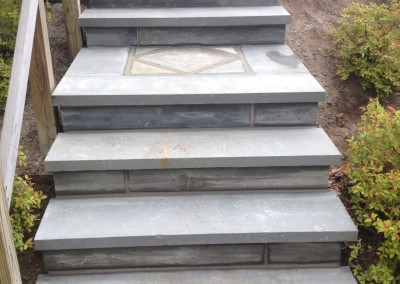 Bluestone Overlay on Concrete Steps