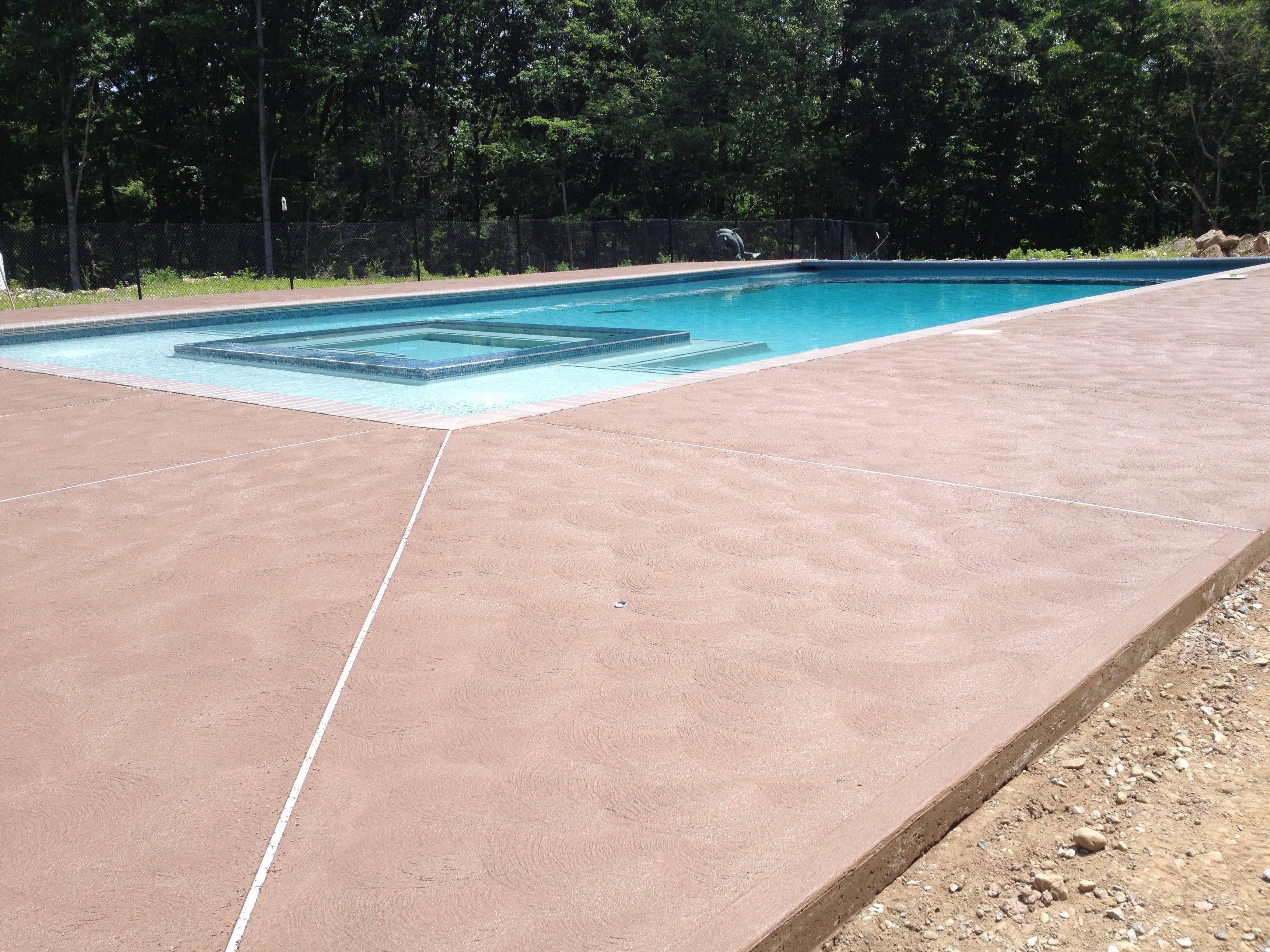 Decorative Concrete Pool Deck Sussex County Concrete