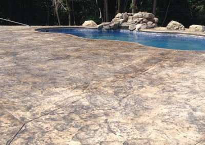 Pool Patios made from stamped concrete