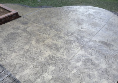 Seamless patterned concrete patio work