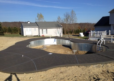 cantilever coping pool patio