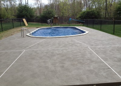concrete pool surround deck for homes in Newton