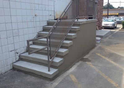 commercial concrete step repair
