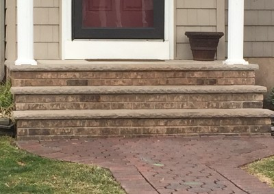Brick steps installed Sussex County New Jersey