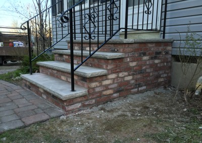 New brick steps and railings in Sparta