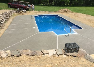 Cement pool patio