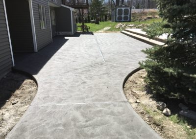 Concrete Patio with Drain