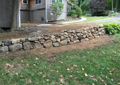Mini Rock Retaining Wall