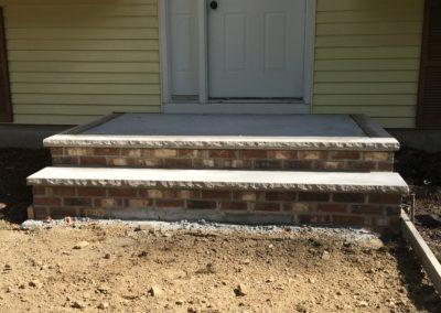 New Brick and Limestone stoop