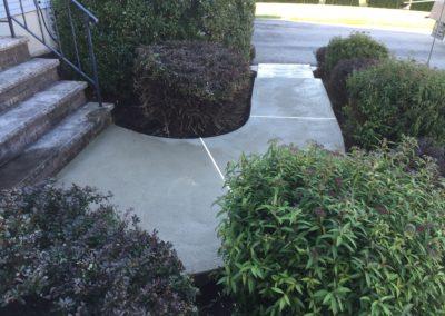 New concrete walkway