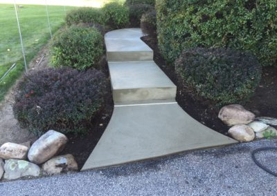 Small Concrete Sidewalk with Steps
